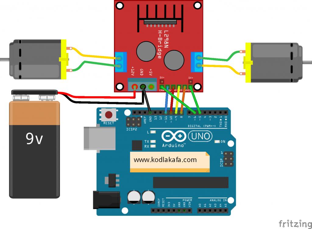 Arduino ile l298n motor s r c kullan m kodlakafa for H and h motors