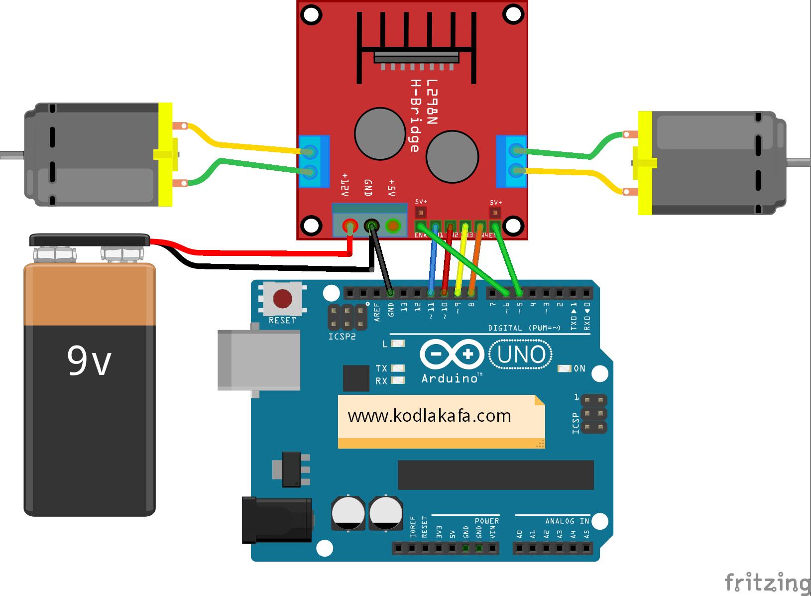 Arduino ile l n motor sürücü kullanımı « kodlakafa