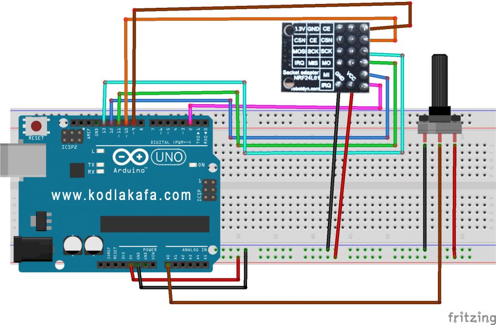 Arduino ile nrf l kablosuz iletişim modülü kullanımı