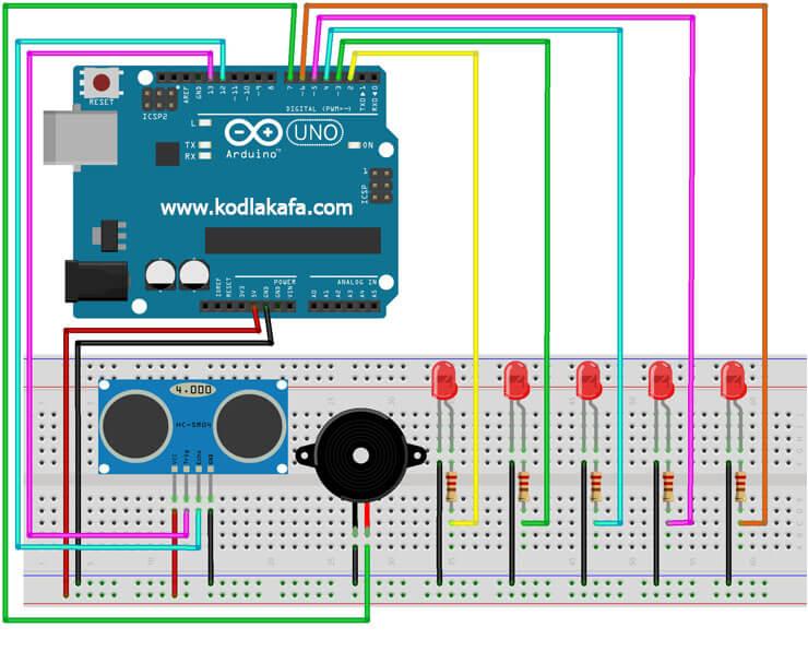 arduino-ile-park-sensörü-devresi