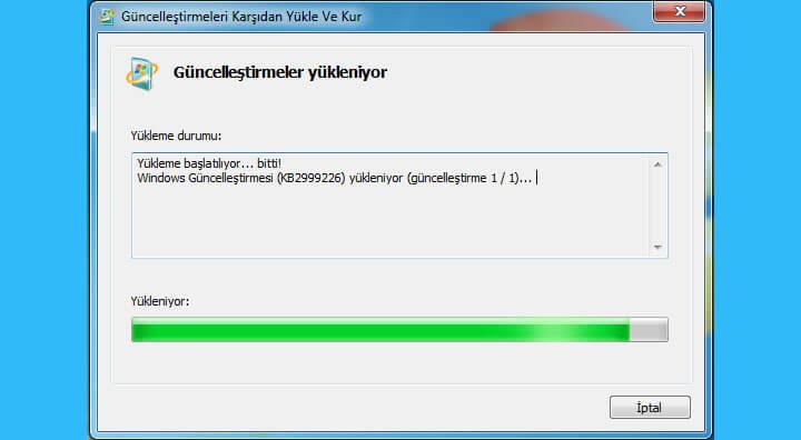 dll-hatasi-KB2999226-update-yukleme